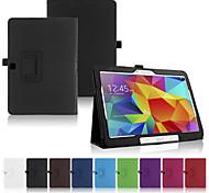 Для Кейс для  Samsung Galaxy со стендом / Флип Кейс для Чехол Кейс для Один цвет Искусственная кожа SamsungTab 4 10.1 / Tab Pro 10.1 /