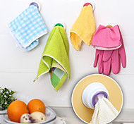 cheap -Designed Self-adhesive Cloth Holder Towel Hook Kitchen (Random Color)