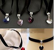 Ожерелье Ожерелья-бархатки Бижутерия Свадьба / Для вечеринок / Повседневные Ткань Черный 1шт Подарок