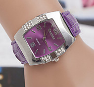 cheap -Women's Fashion Watch Quartz Casual Watch Leather Band Elegant Black Blue Pink Purple