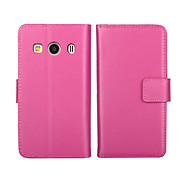 cheap -Case For Samsung Galaxy Samsung Galaxy Case Card Holder Wallet with Stand Flip Full Body Cases Solid Color PU Leather for Ace 4