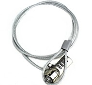 cheap -Security Combination Cable Lock for Laptop Notebook Silver 100CM