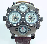 cheap -JUBAOLI Men's Quartz Wrist Watch Calendar / date / day Leather Band Charm Black Blue Red Orange Brown Yellow