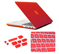 "Case for MacBook Pro 15.4"" Solid Color Plastic Material 3 in 1 Matte Case with Keyboard Cover and Silicone Dust Plug"