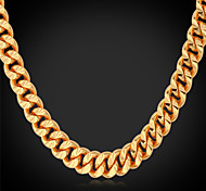 cheap -Men's Gold Plated Choker Necklace Chain Necklace Collar Necklace  -  Fashion Gold Necklace For Wedding Party Daily