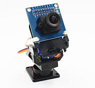 2-Axis FPV Camera Cradle Head + OV7670 Camera Set for Robot / R/C Car - Black + Blue