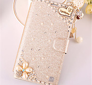 cheap -Case For Samsung Galaxy Samsung Galaxy Note7 Card Holder Rhinestone with Stand Flip Full Body Cases 3D Cartoon PU Leather for Note 7 Note