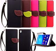 Недорогие -Держатель карточки бумажника PU кожаный чехол крышка флип высокое качество для Sony Xperia Z4 / Z3 / Z3 мини / E3 / E4 (ассорти цветов)