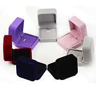 cheap -Women's Jewelry Boxes Dark Blue Black Red Purple Gray Pink Flannelette Fashion Daily