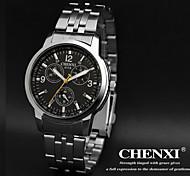 CHENXI® Men's Dress Watch Classic Design Silver Strap Wrist Watch Cool Watch Unique Watch