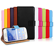 Genuine Leather Wallet Style Case for Samsung Galaxy Ace 4 Style LTE G357 G357FZ SM-G357