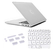 "Case for MacBook Pro 13.3"" with Retina Display Solid Color Plastic Material 3 in 1 Matte Case with Keyboard Cover and Silicone Dust Plug"