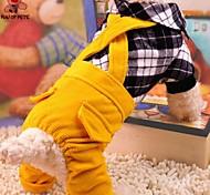 Собаки Костюмы / Комбинезоны Красный / Черный Одежда для собак Зима / Весна/осень В клетку Косплей / На каждый день