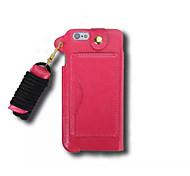 пу Слот карты кожа повесить веревку висит на шее мобильный телефон кобуры для Iphone 6 плюс (ассорти цветов)