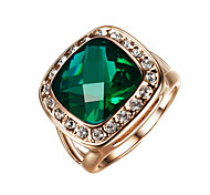 cheap -Women's Alloy Statement Ring - Fashion Dark Green Ring For Wedding Party Engagement Daily Casual