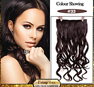 5 роликов волнистые темно Auburn (# 33) синтетический зажим для волос в волос расширений для дам больше цветов, доступных