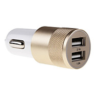 cheap -Universal Metal Material Car Charger for for iPhone 7 iPhone 6 iPhone 6 Plus Samsung Huawei Xiaomi and Other Mobie Phone