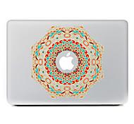 flor circular 12 adhesivo decorativo para macbook air / pro / pro con pantalla de retina