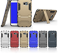 Недорогие -Специальная конструкция шт силиконовые задняя обложка случаи с подставкой для Samsung Galaxy S5 / S6 / s6 края (ассорти цветов)