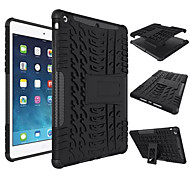 cheap -Case For Apple iPad Mini 4/3/2/1 iPad 4/3/2 Air 2 iPad Air Shockproof with Stand Back Cover Solid Color Hard Silicone for iPad (2017) Pro 10.5 Pro 9.7