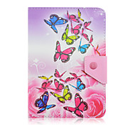 SZKINSTON Dazzling Butterfly Case Cover Shockproof with Stand Magnetic Pattern Full Body PU Leather For All 9.5 - 10.5 Inch Mobile Phone or Tablet