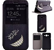 Hülle Für Samsung Galaxy Samsung Galaxy Hülle mit Halterung mit Sichtfenster Handyhülle für das ganze Handy Schwarz & Weiß Kunst-Leder für