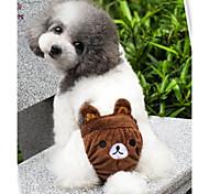 Недорогие -Кошка Собака Костюмы Инвентарь Брюки Одежда для собак Мультипликация Желтый Коричневый Розовый Хлопок Костюм Для домашних животных