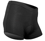 SANTIC Cycling Under Shorts Men's Unisex Bike Underwear Shorts Padded Shorts/Chamois Bottoms Bike Wear Breathable Limits Bacteria Solid