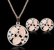 Women's Jewelry Set Crystal Cute Party Fashion Party Special Occasion Anniversary Birthday Gift Gemstone & Crystal Cubic Zirconia Rose