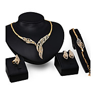 cheap -Women's Rhinestone Jewelry Set Rings 1 Pair of Earrings 1 Bracelet Necklace - Statement For Wedding Party