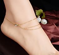 Недорогие -женская мода кристалл multilaye кисточки цепи браслет