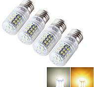 Недорогие -E14 E26/E27 LED лампы типа Корн T 48 светодиоды SMD 2835 Декоративная Тёплый белый Холодный белый 600lm 3000/6000K AC 85-265 9-30V