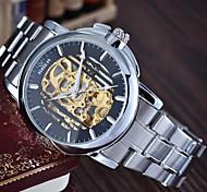 Мужской Наручные часы Механические часы Защита от влаги С автоподзаводом сплав Группа Серебристый металл