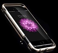 Недорогие -Кейс для Назначение iPhone 6 Plus Бампер Твердый Металл для iPhone 6s Plus iPhone 6 Plus