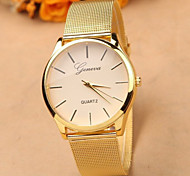 cheap -Gold Strap Watch Full Stainless Steel Woman Fashion Dress Watches New Brand Name Geneva Quartz Watch Best Quality Cool Watches Unique Watches
