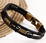 cheap -Leather Bracelet Unique Design Vintage Casual Fashion Leather Others Jewelry Christmas Gifts Costume Jewelry Black Brown