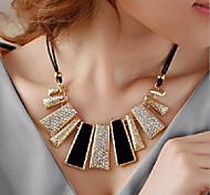 cheap -Women's Geometric Irregular Shape Statement Jewelry Choker Necklace Statement Necklace Alloy Choker Necklace Statement Necklace Party