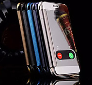 cheap -Color Mirror Window To Answer Phone Shell for iPhone 6s 6 Plus