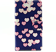 cheap -Case For Sony Xperia Z3 Compact Sony Xperia M4 Aqua Sony Xperia M2 Sony Sony Case Card Holder Wallet with Stand Flip Full Body Cases Heart