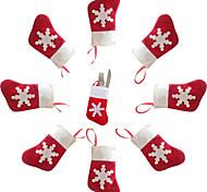 5шт рождественские украшения мини носки нож и вилка столовые приборы сумки