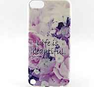 Beautiful Life Pattern TPU Soft Cover for iPhone Touch 5 iPod Cases/Covers
