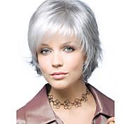Недорогие -Искусственные волосы парики Волнистый Без шапочки-основы Карнавальный парик Парик для Хэллоуина Короткие Белый