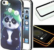 For iPhone 5 Case LED Flash Lighting Case Back Cover Case Animal Soft TPU iPhone SE/5s/5