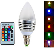 cheap -YWXLIGHT® 4W 300-350 lm E14 LED Candle Lights A60(A19) 3 leds Integrate LED Dimmable Decorative Remote-Controlled RGB AC 85-265V