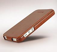 сумасшедший рисунок лошади пу кожаный вверх и вниз флип полный Корпус телефона защитная оболочка для iPhone 5 / 5s