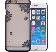 Недорогие -прозрачный выемку печати шт Материал телефон случае для iPhone 6 / 6с (ассорти цветов)