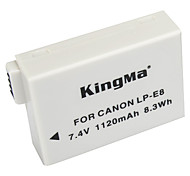 cheap -KingMa LP-E8 LP E8 LPE8 Camera Battery For Canon EOS 550D 600D 650D 700D kiss X4 X5 X6i X7i Rebel T2i T3i T4i T5i