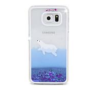 Недорогие -поток уплотнение песка шт Материал сотовый телефон случае для Samsung Galaxy S6 / s6 края