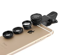 Apexel 4 in 1 2X Telephoto,Fisheye and Macro Lens & 0.65X Wide lens with Clip for iPhone 4/5/6S/6S Plus(Assorted Colors)