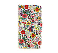 For iPhone 5 Case Wallet / Card Holder / with Stand / Flip / Pattern Case Full Body Case Flower Hard PU Leather iPhone SE/5s/5